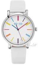 So & Co New York SoHo Biały/Skóra Ø38 mm
