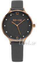 So & Co New York Madison Szary/Skóra Ø36 mm