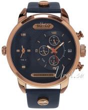 So & Co New York SoHo Niebieski/Stal w kolorze różowego złota Ø5