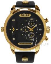 So & Co New York SoHo Czarny/Stal w odcieniu złota Ø52 mm