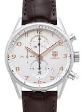 TAG Heuer Carrera Calibre 1887 Automatic Chronograph Srebrny/Skó