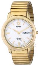 Timex Classic Elevated Biały/Stal w odcieniu złota Ø37 mm