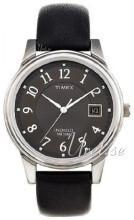 Timex Classic Elevated Czarny/Skóra Ø35 mm