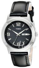 Timex Classic Elevated Czarny/Skóra Ø40 mm