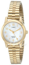 Timex Classic Elevated Biały/Stal w odcieniu złota Ø25.5 mm