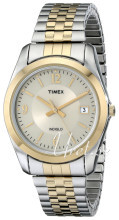 Timex Classic Elevated Srebrny/Stal w odcieniu złota Ø35 mm