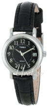 Timex Classic Elevated Czarny/Skóra Ø25 mm