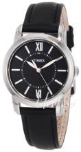 Timex Classic Elevated Czarny/Skóra Ø32 mm