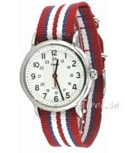 Timex Weekender Biały/Stal Ø38 mm