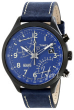 Timex Intelligent Niebieski/Skóra Ø43 mm