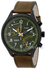 Timex Intelligent Zielony/Skóra Ø43 mm