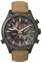 Timex Intelligent Czarny/Skóra Ø46 mm