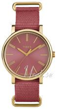 Timex Weekender Czerwony/Stal w odcieniu złota Ø38 mm