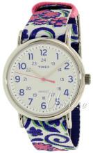 Timex Weekender Biały/Tkanina Ø38 mm