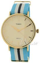 Timex Weekender Kremowy/Stal w odcieniu złota Ø41 mm