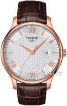 Tissot Tradition Gent Srebrny/Stal w kolorze różowego złota Ø42