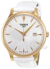 Tissot Tradition Gent Biały/Skóra Ø42 mm