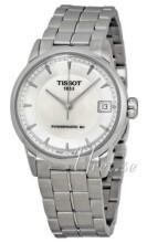 Tissot Luxury Biały/Stal Ø33 mm