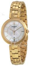 Tissot T-Lady Flamingo Biały/Stal w odcieniu złota Ø26 mm