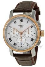 Tissot Bridgeport Automatic Chronograph Srebrny/Skóra Ø42 mm