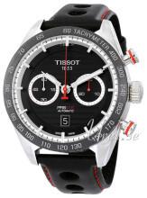 Tissot T-Sport Prs 516 Automatic Chronograph Czarny/Skóra Ø45 mm