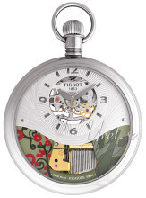 Tissot T-Pocket Musical Seasons By Tissot Srebrny Ø59.6 mm