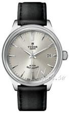 Tudor Style Srebrny/Skóra Ø38 mm