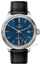 Tudor Style Niebieski/Skóra