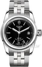 Tudor Glamour Date Czarny/Stal Ø26 mm
